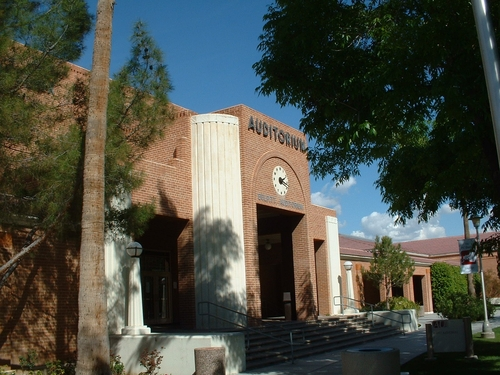 Front of Bilpitt Auditorium